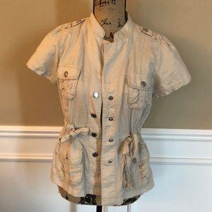 Ann Taylor Linen Utility Jacket